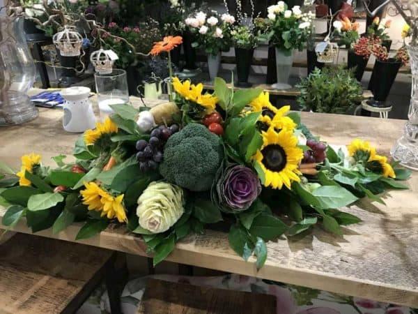 Vegetable floral tribute