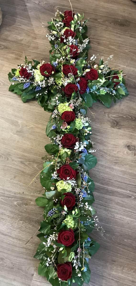 Funeral Flower Cross